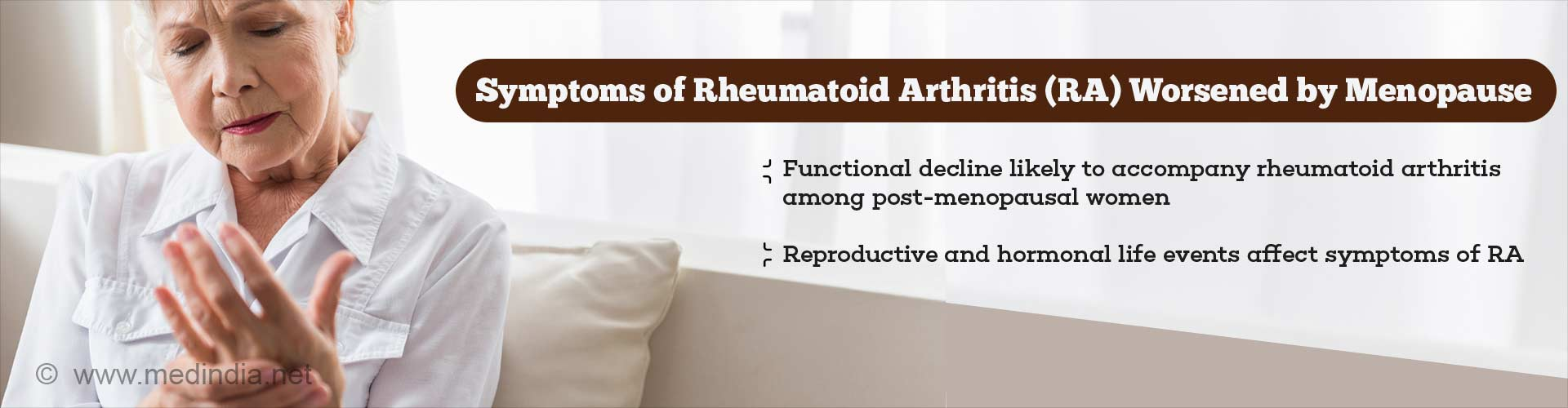 Symptoms of Rheumatoid Arthritis Worsened by Menopause