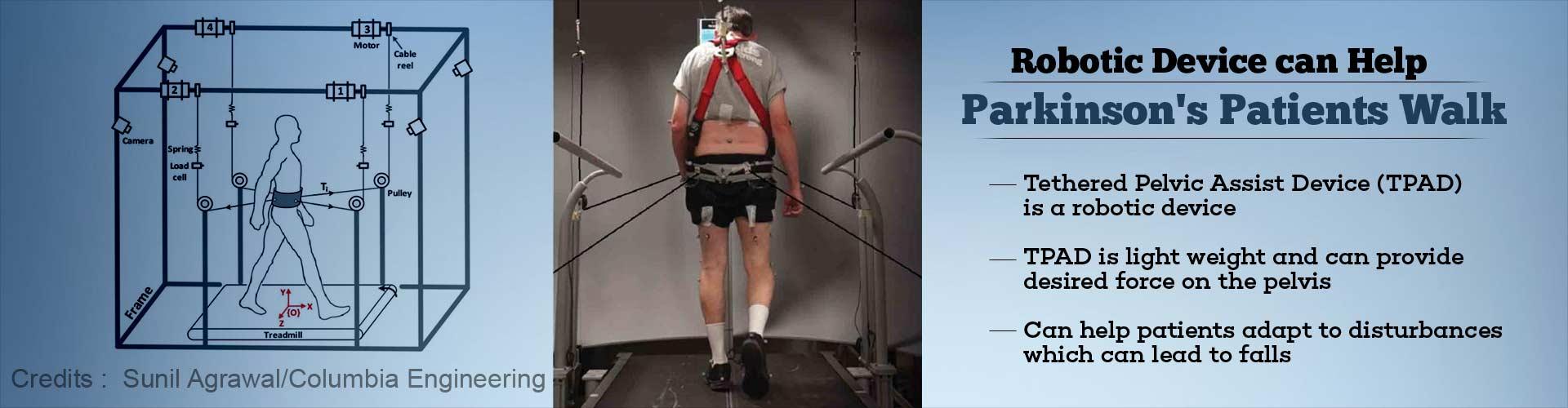 Pelvic Assist Robotic Device can help Parkinsons Patient Walk