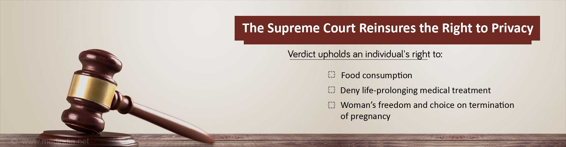 The supreme court re insures the right to privacy