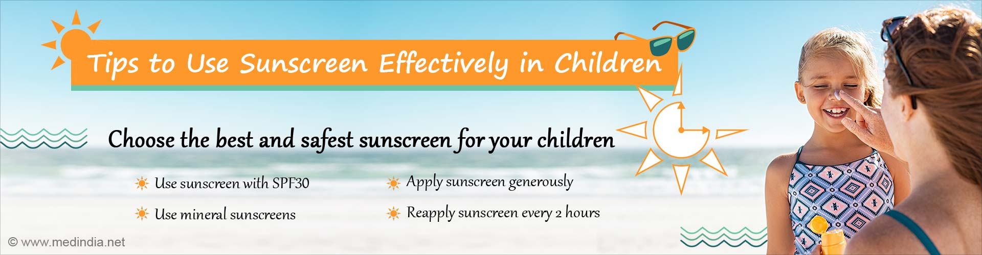 Tips to Use Sunscreen Effectively in Children