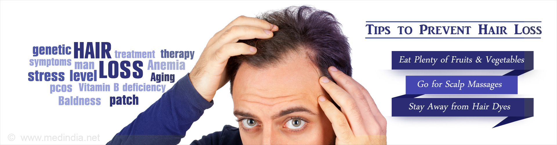 Tips to Prevent Hair Loss, Eat Plenty of Fruits and Vegetables, Go for Scalp Massages, Stay Away from Hair Dyes