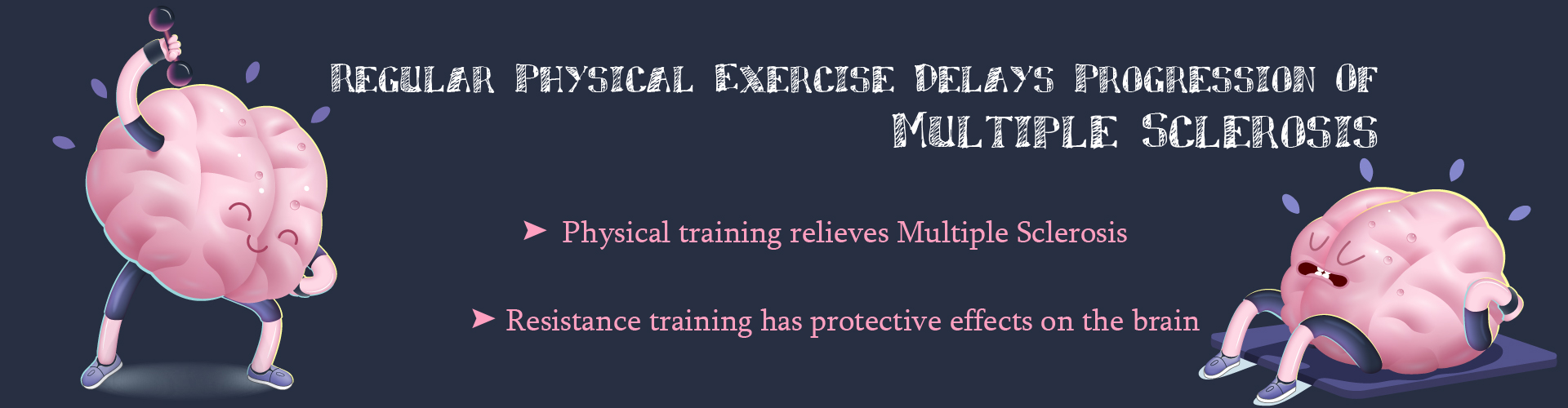 Regular physical exercise delays progression of multiple sclerosis