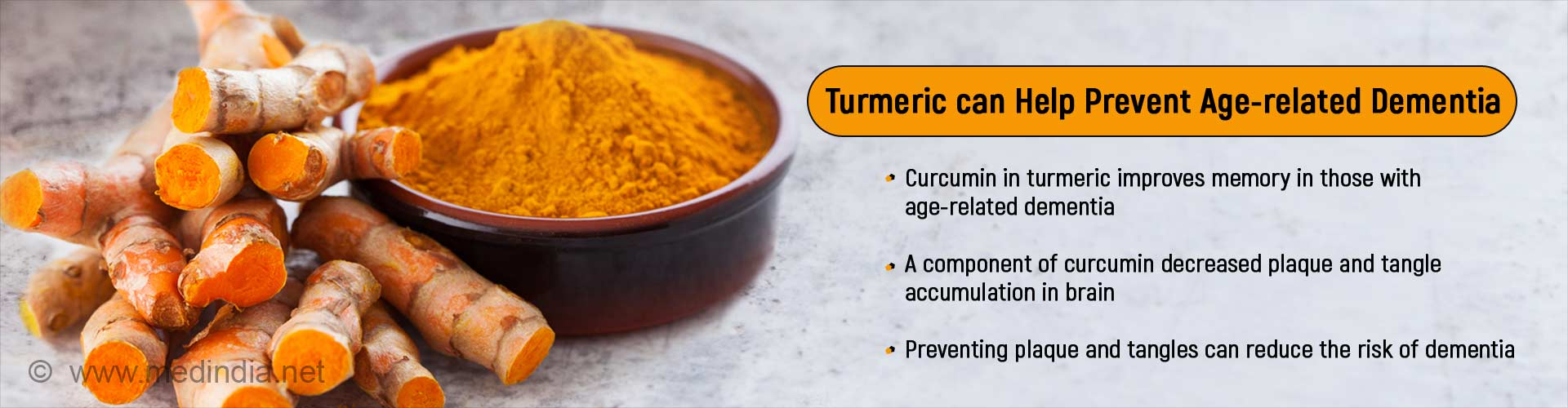Add A Pinch Of Turmeric to Your Food For Better Memory and Mood