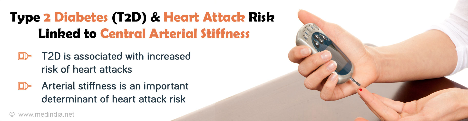 Type 2 Diabetes (T2D) & Heart Attack Risk Linked to Central Arterial Stiffness