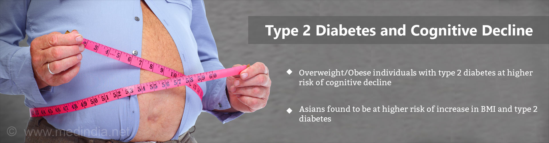 Higher Risk of Cognitive Decline Among Obese Type 2 Diabetes Patients