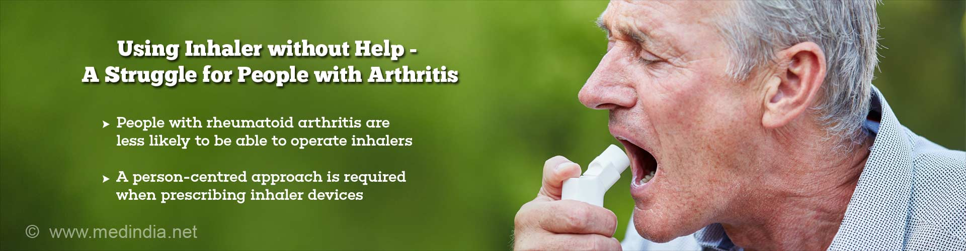using inhaler without help - a struggle for people with arthritis - people with rheumatoid arthritis are less likely to be able to operate inhalers - a person-centered approach is required when prescribing inhaler devices
