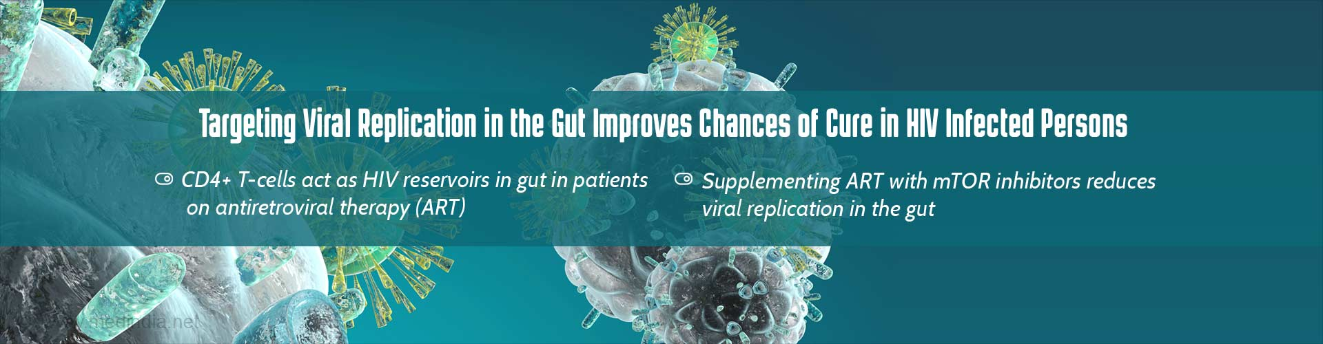 Targeting viral replication in the gut improves chances of cure in HIV infected persons
