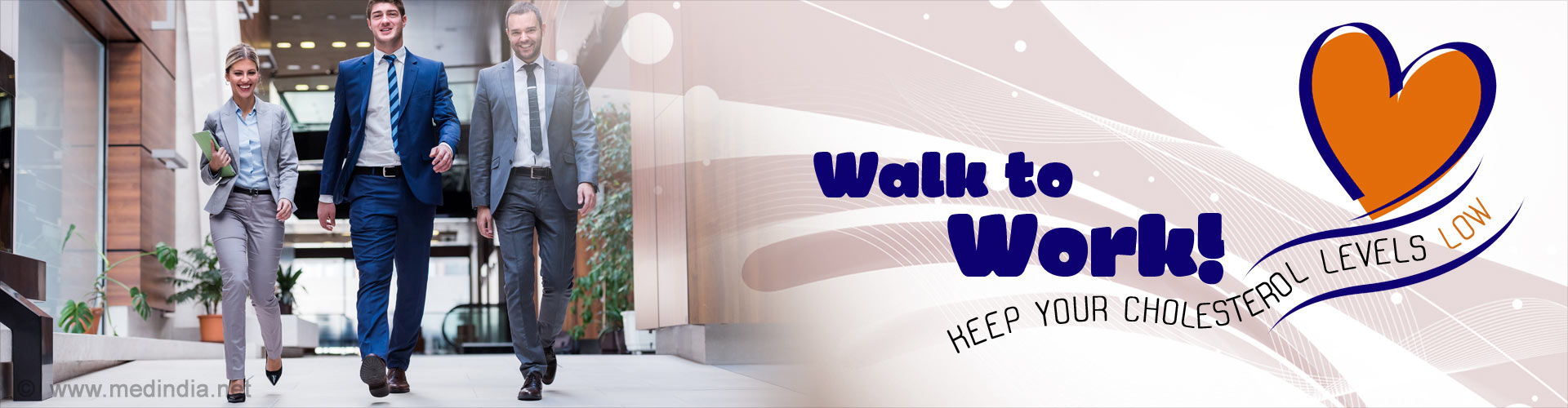 Walk to Work! Keep Your Cholesterol Levels Low