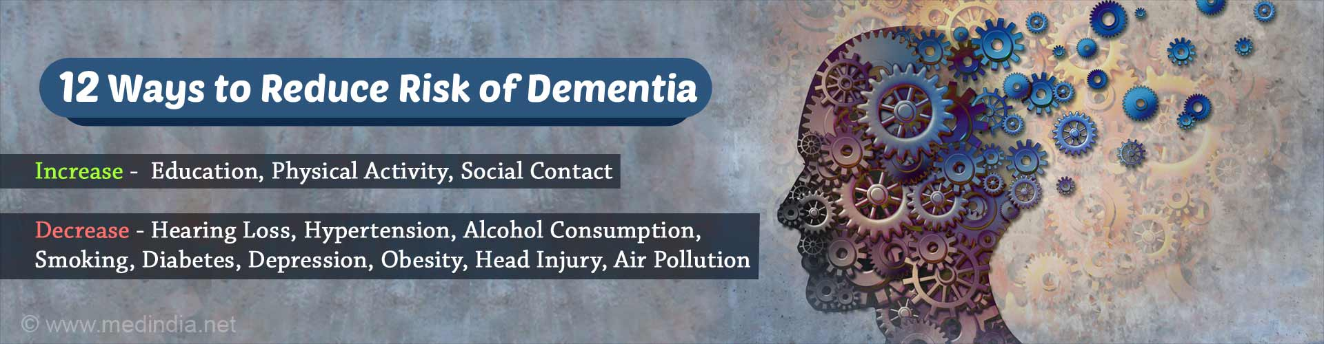 Top 12 Ways to Reduce Risk of Dementia