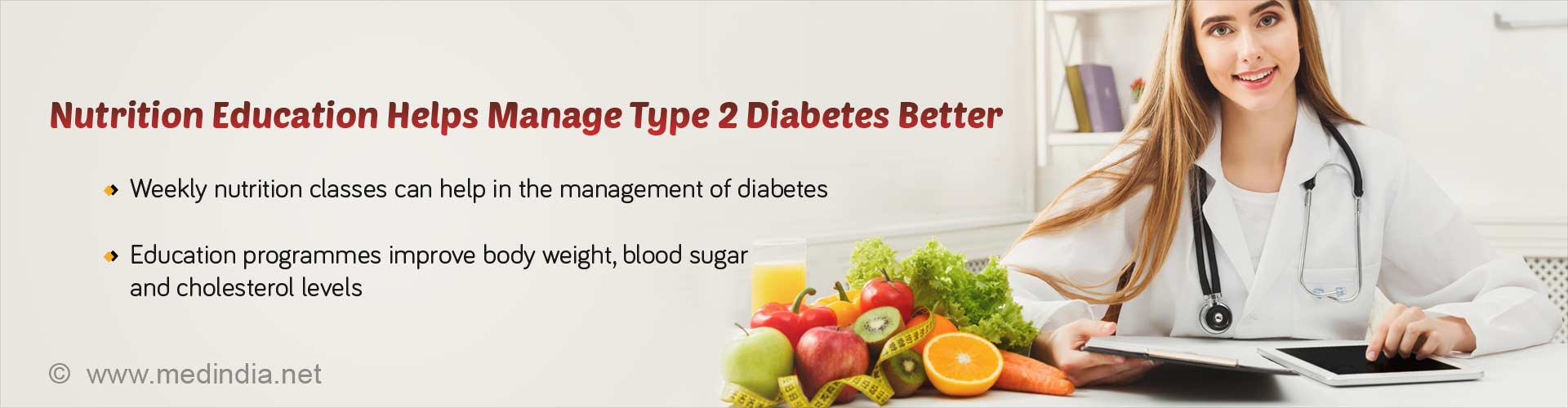 Weekly Nutrition Classes Help Improve Type 2 Diabetes