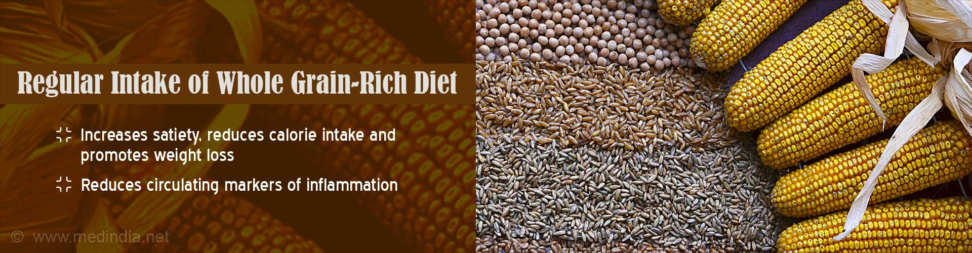 Regular intake of whole grain-rich diet