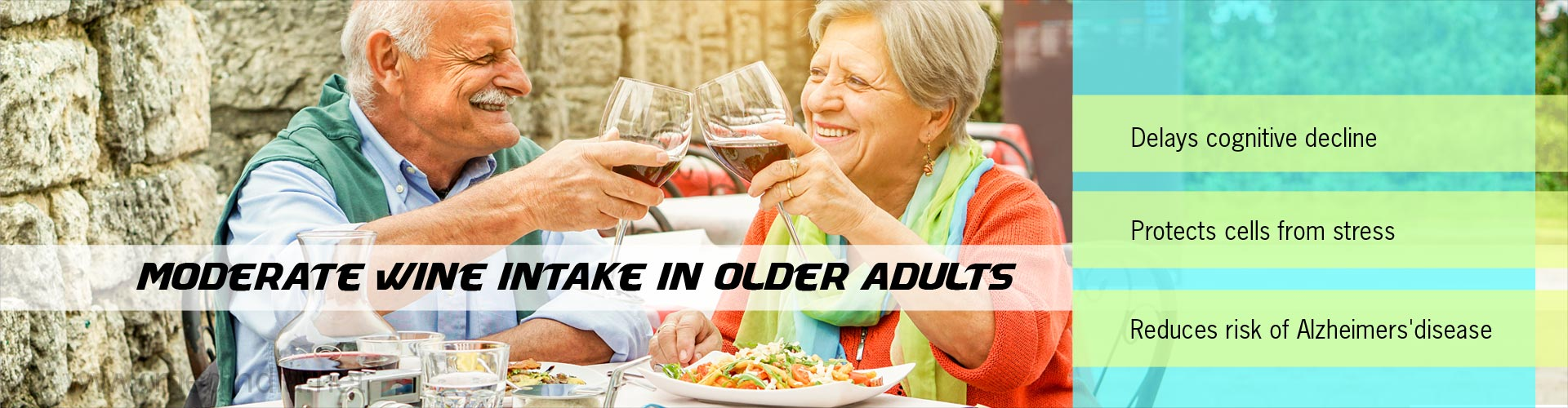 moderate wine intake in older adults
