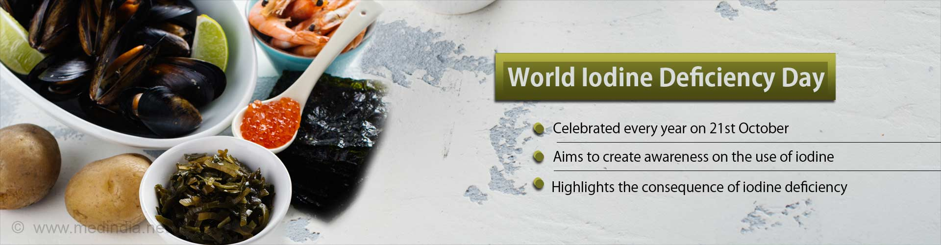World Iodine Deficiency Day