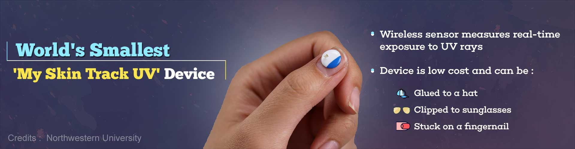 World's Smallest Wireless Wearable Sensor can Monitor Exposure to Harmful UV Rays