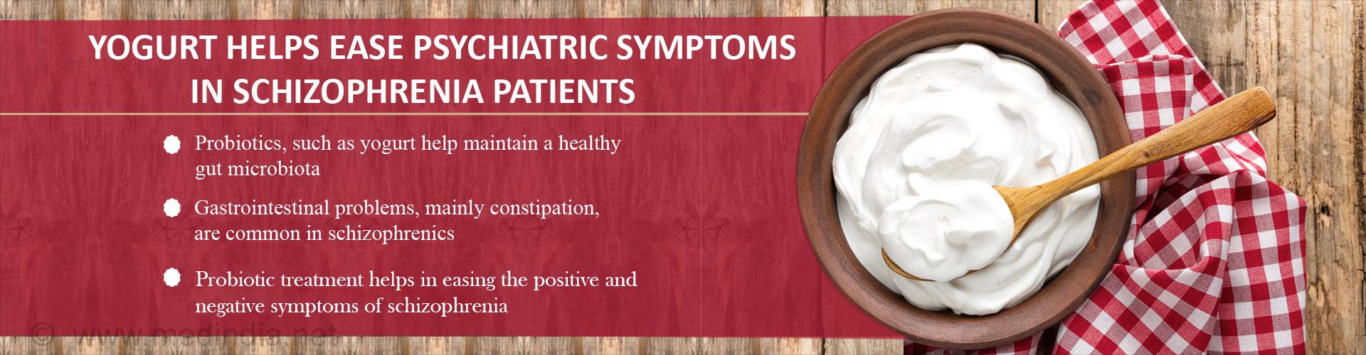 Yogurt Helps Ease Psychiatric Symptoms in Schizophrenia Patients