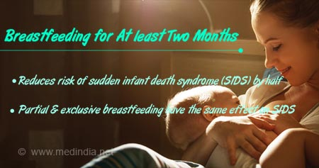 Health Tip on Breastfeeding to Reduce Risk of Sudden Infant Death Syndrome