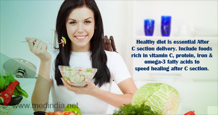 Health Tip on Diet After C Section Delivery