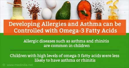 Health Tip on Omega-3 Fatty Acids Can Reduce Risk of Allergies and Asthma