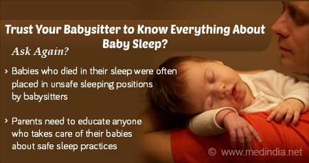 Health Tip On Do Baby Sitters Know About Safe Baby Sleeping Positions