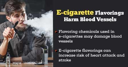 E-cigarette Flavorings Harm Blood Vessels