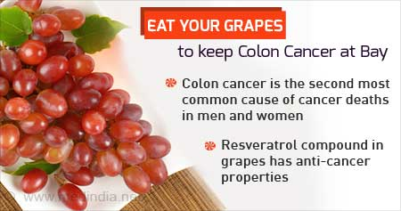 Health Tip on Grapes to Treat Colon Cancer