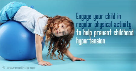 Health Tip To Prevent Childhood Hypertension