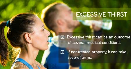 Health Tip on Reasons for Excessive Thirst