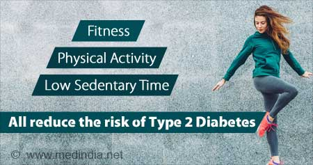 Physical Fitness and Low Sedentary Time can Lower Type 2 Diabetes Risk