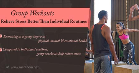 Health Tip on How Group Workouts Help Reduce Stress