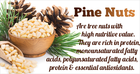 Health Tip on Benefits of Pine Nuts