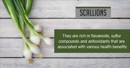 Health Tip on Benefits of Scallions