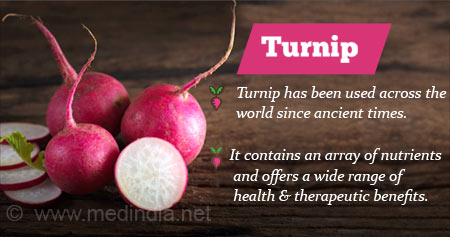 Health Tip on Benefits of Turnip