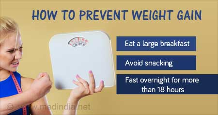 Health Tip on How to Prevent Weight Gain