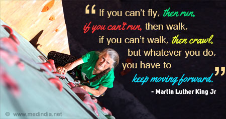 Health Quote on Moving Forward