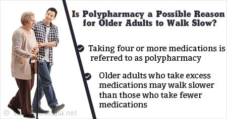 Health Tip on Excessive Medication Can Slow Down Walking in Older Adults