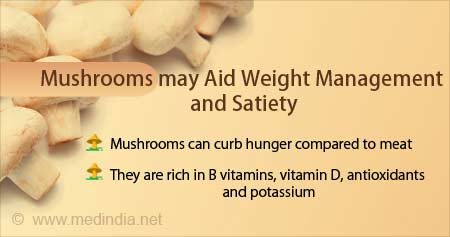 Health Tip on Mushrooms can Aid in Weight Management and Satiety