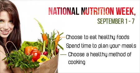 Health Tip on National Nutrition Week