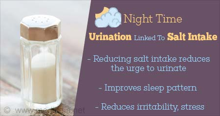 Health Tip on How Nighttime Urination is Linked to Salt Intake