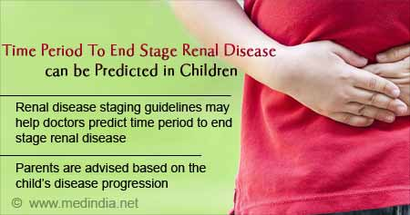 Health Tip on Predicting Time Period To End Stage Renal Disease In Children