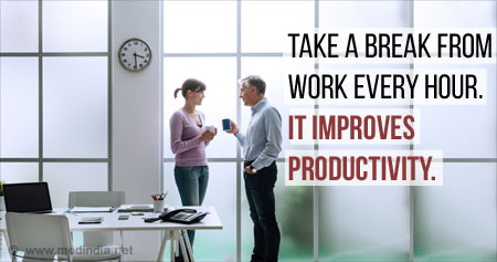 Health Tip on The Benefits of Taking Breaks at Work