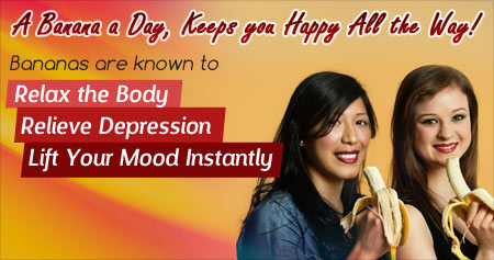 Amazing Health Tip to Beat Depression with Bananas