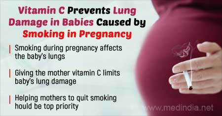 Vitamin C Supplementation to Mother Improves Baby's Lung Function