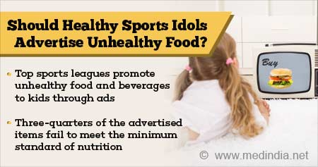 Health Tip on Sports Idols Advertising Unhealthy Food