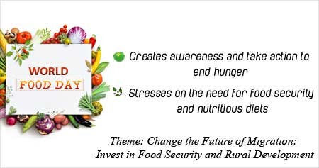 Health Tip on World Food Day: Change the Future of Migration