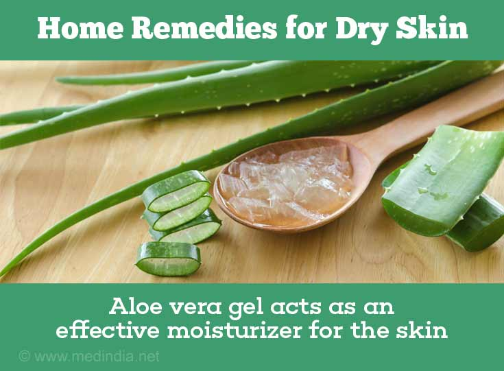 Home Remedies with Natural Ingredients for Dry Skin: Aloe Vera Gel