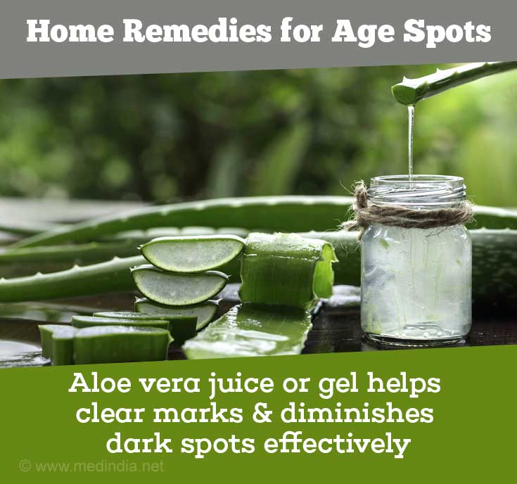 Aloe Vera is Good for Age Spots