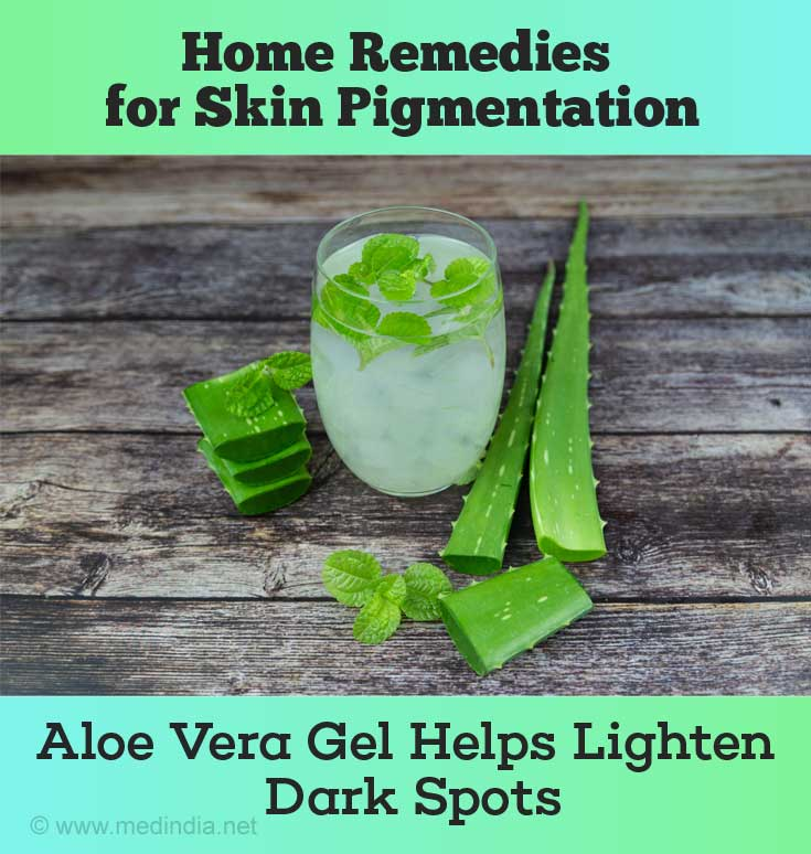 Aloe Vera Juice to Lighten Dark Spots
