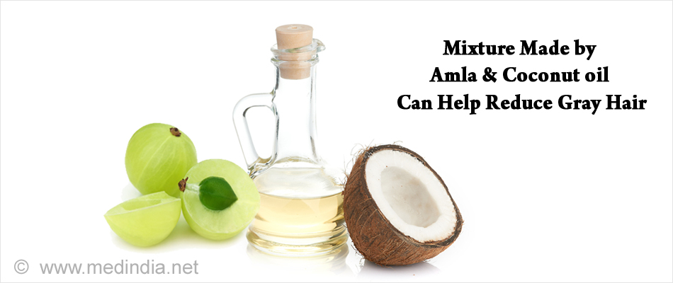Pack Made by Amla & Coconut oil Can Help Reduce Gray Hair