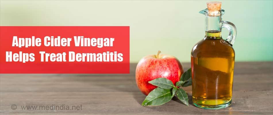Apple Cider Vinegar Helps Treat Dermatitis