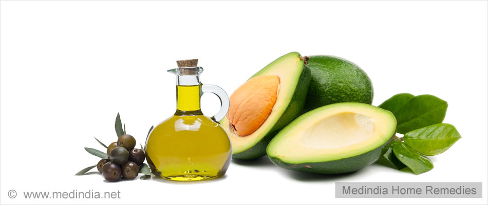 Apply Avocado and Olive Oil to Hair